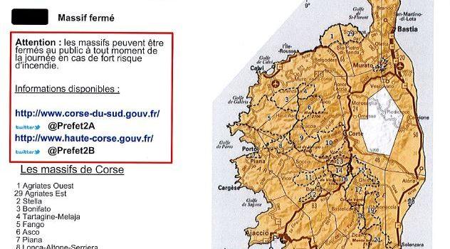 Carte Corse Serriera.Activites De Pleine Nature Carte Du Risque D Incendie En
