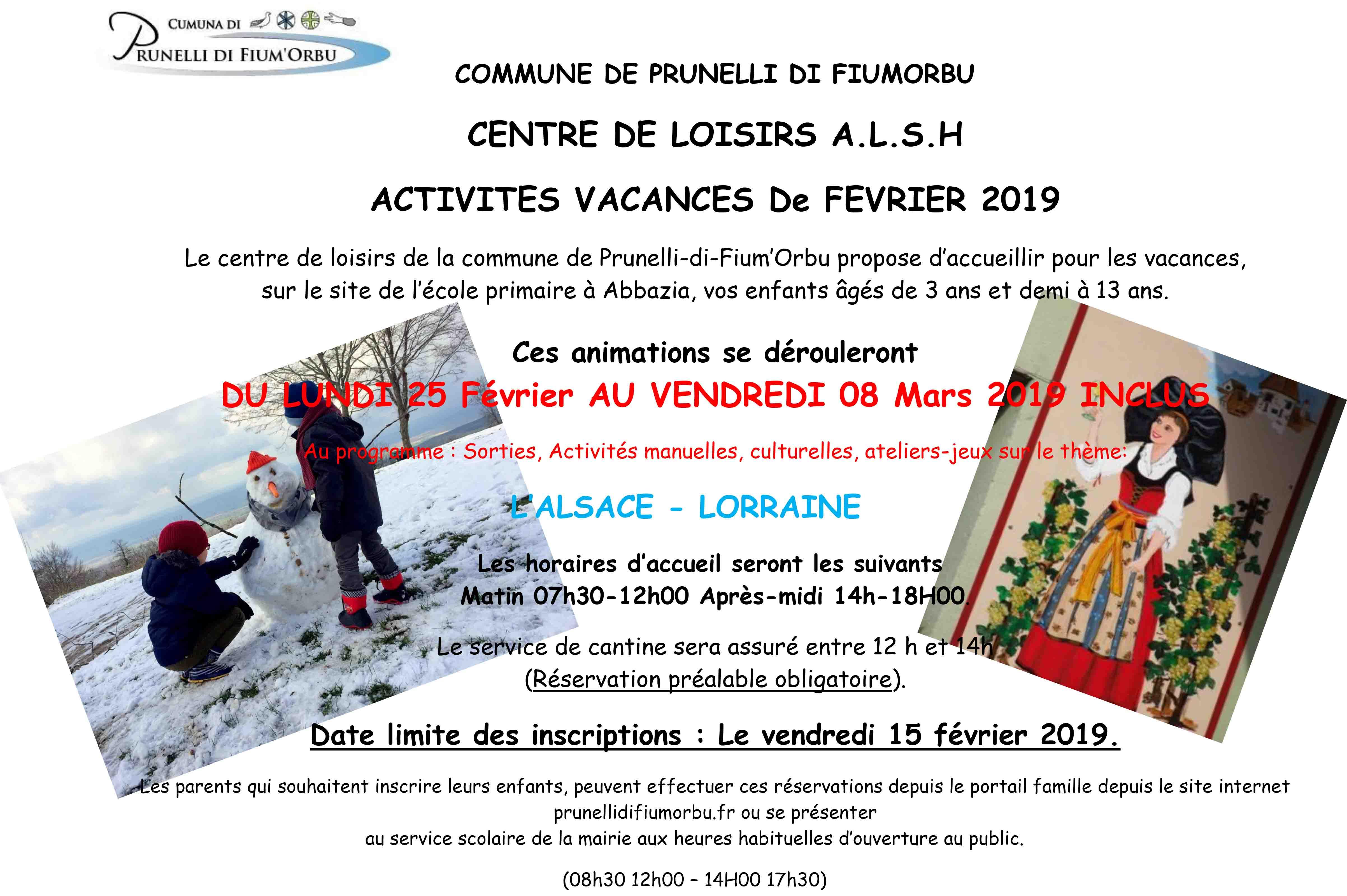 Activités Manuelles Centre De Loisirs 6 10 Ans centre de loisirs alsh - activites vacances de fevrier 2019 - date